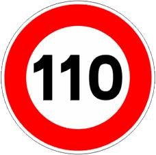 límite de 110 km/h