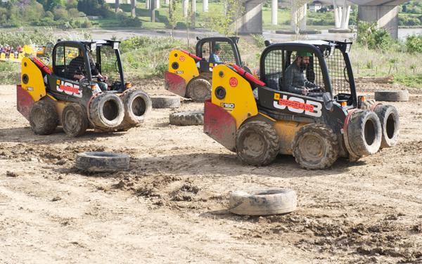carrera de excavadoras