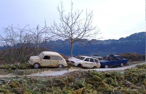 Desguaces de coches en miniatura