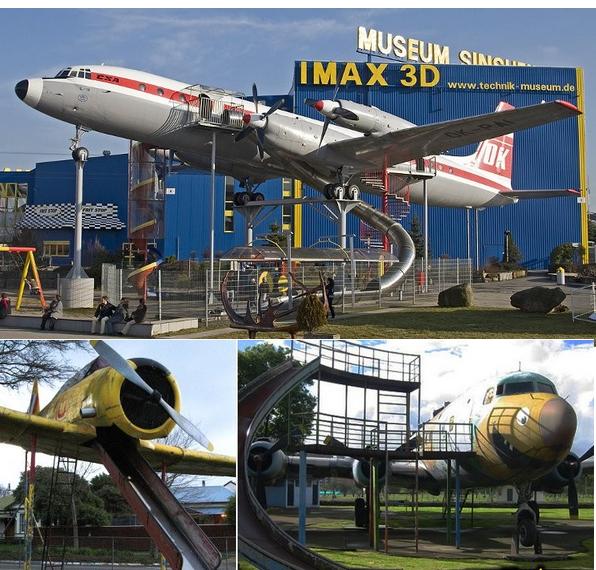 Zona ocio infantil con aviones