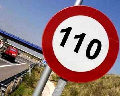 Limite velocidad 110 km/h