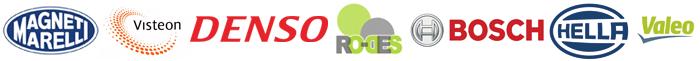 logos de fabricantes alternadores; magneti marelli, visteon, denso, ro-des, bosch, hella, valeo