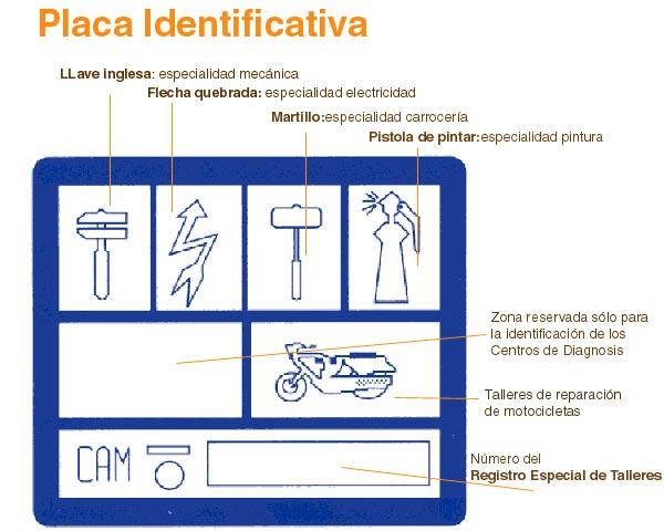 placa identificativa de talleres autorizados