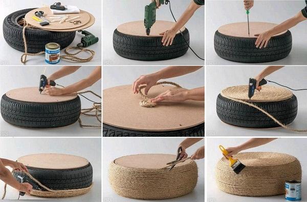 Pasos para reciclar neumáticos
