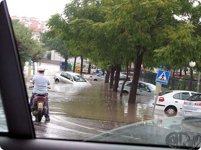 coches en una riada