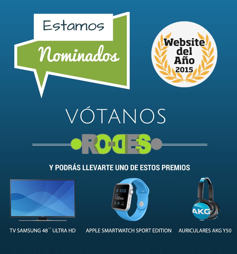 nominados en los premios website del año