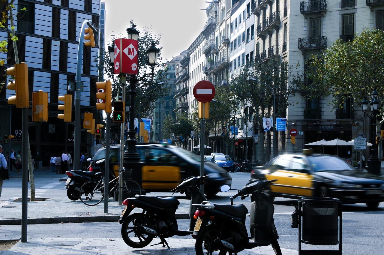 tráfico en la ciudad de Barcelona