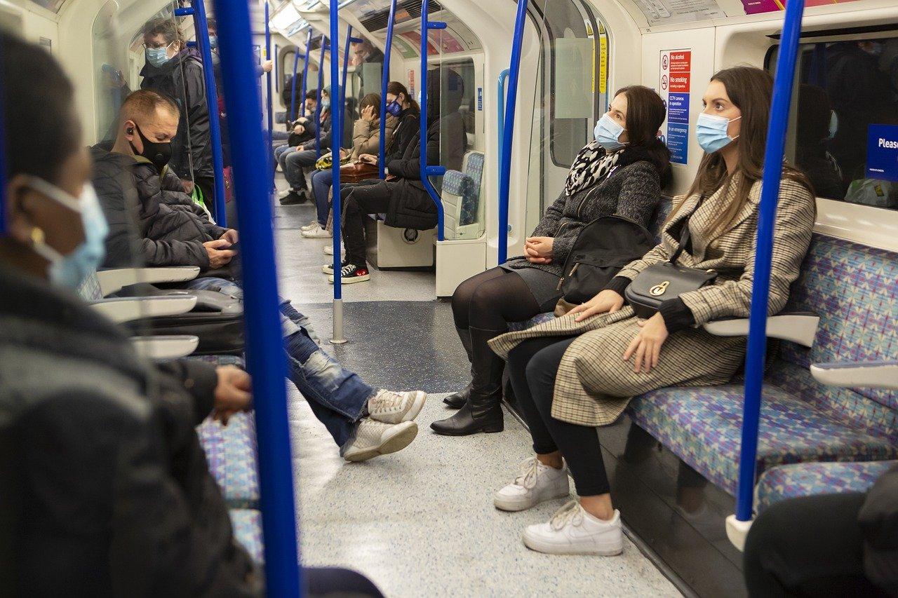mascarilla en el transporte público